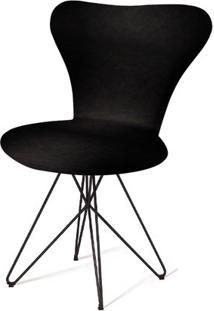 Cadeira Jacobsen Series 7 Preta Com Base Estrela Preta - 55921 - Sun House
