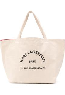 Karl Lagerfeld Rue Saint Guillaume Shopper Tote - Neutro