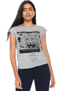 Camiseta Mng Barcelona Tigre Cinza