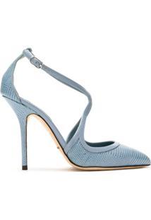 Dolce & Gabbana Scarpin De Couro Salto Alto - Azul