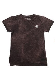 Camiseta Longline Stoned Estonada Basic Vinho