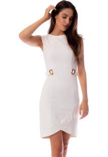 Vestido Feminino Lu Bella Off White - P