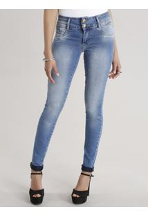 14f019c68 ... Calça Jeans Super Skinny Sawary Azul Claro