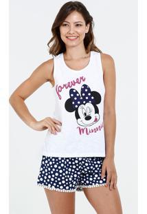 Pijama Feminino Estampa Minnie Disney