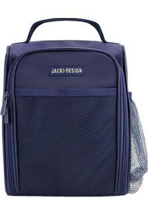 Bolsa Térmica Com Bolsos Externos- Azul Marinho- 24Xjacki Design