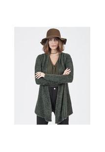 Jaquetas & Casacos Khelf Cardigan Feminino Felpudo Plissado Verde