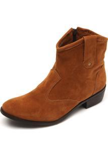 Bota Country Dafiti Shoes Recortes Caramelo
