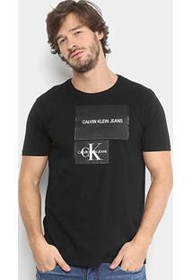 Camiseta Calvin Klein Estampada Manga Curta Masculina - Masculino