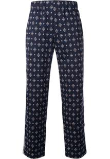 Kenzo Printed Drawstring Trousers - Azul