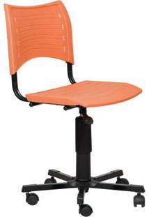 Cadeira Secretária Giratória Iso Laranja