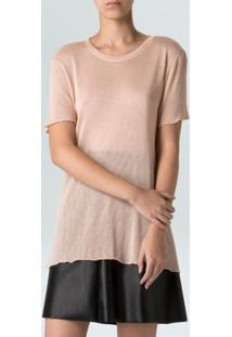 Blusa Mc Super Fine-Nude - P