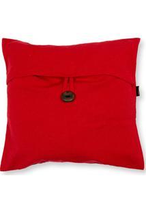 Capa Para Almofada Em Algodão Romantic 40X40Cm Vermelha