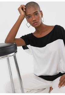 Blusa Lança Perfume Color Block Branca