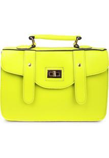 Bolsa Carteiro Real Arte Neon Amarelo