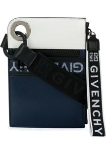 Givenchy Clutch Com Logo E Zíper - 490 Blue White