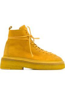 Marsèll Ankle Boot Com Cadarço - Amarelo