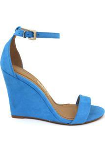 Anabela Feminino Milano Sued Azul Piscina 8415