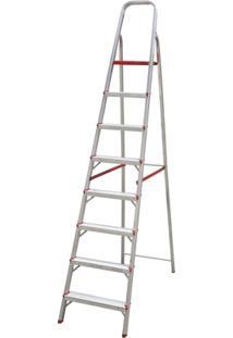 Escada Em Alumínio Com 8 Degraus
