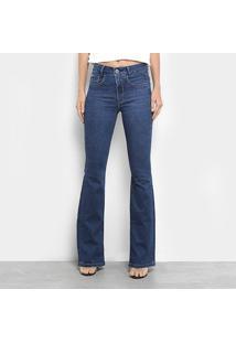12f1a092b ... Calça Jeans Flare Maria Filó Cintura Média Feminina - Feminino-Azul