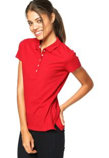 ... Camisa Polo Tommy Hilfiger Bordado Vermelha 08d44e61a7602