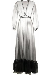 Alchemy Vestido Translúcido Com Tule - Preto
