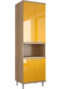Armário Módulo Para Forno Sicília Argila Lacca Amarelo Multimóveis