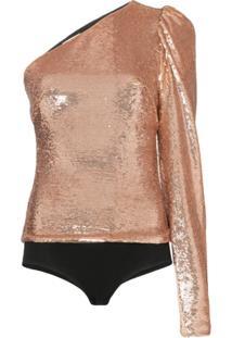 Alexandre Vauthier One-Shoulder Sequin Body - Rosa