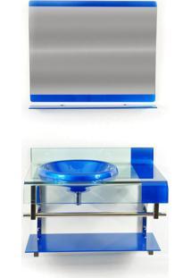 Gabinete De Vidro Para Banheiro Turquia Azul Escuro Ekasa
