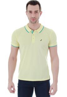 Camisa Polo Masculina Code Blue - Amarelo