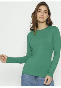 Blusa Com Elã¡Stico- Verde- Colccicolcci
