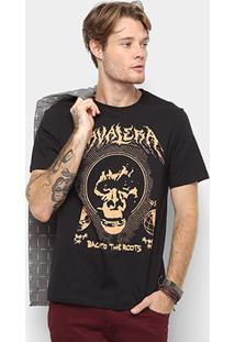 Camiseta Cavalera Back To The Roots Masculina - Masculino-Preto
