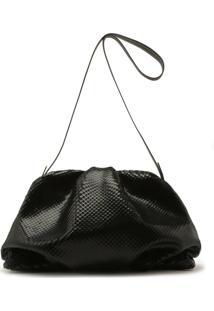 Maxi Clutch Avril Leather Black | Schutz