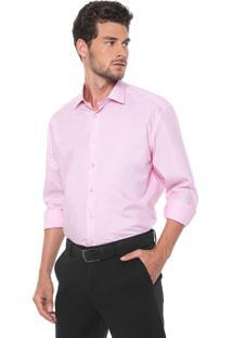 Camisa Dudalina Reta Logo Rosa