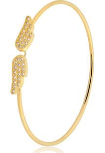 Pulseira Toque De Joia Bracelete Asas Dourado