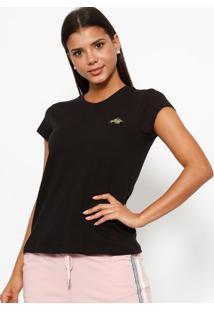 Camiseta Com Logo Da Marca- Preta & Douradaclub Polo Collection