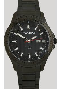 Relógio Analógico Mondaine Masculino - 83465Gpmvps2 Preto - Único