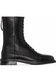 Legres Ankle Boot De Couro - Preto