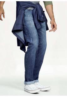 Calça Jeans Skinny Masculina Hering Com Lavação Azul Escura
