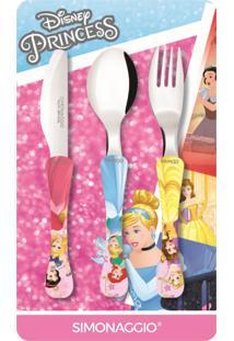 Faqueiro Com 3 Peças Princess Kids Simonaggio 1447