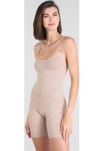 Body Trifil Modelador Sem Bojo Sem Costura Bege