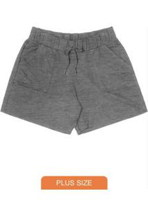 Shorts Molecotton Rovitex Plus Size Cinza