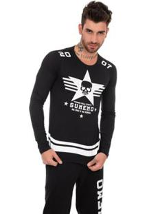 Camiseta Sumemo Aviador Manga Longa Masculina - Masculino