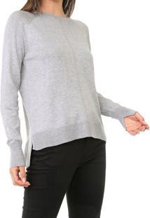 Blusa Calvin Klein Tricot Mullet Cinza