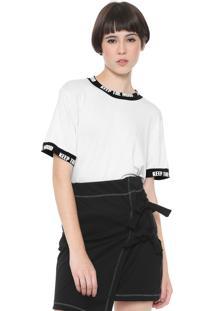 Camiseta Fiveblu Keep The Mood Branca