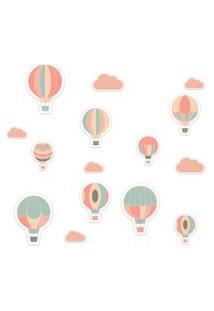 Adesivo De Parede Balões Rosa Para Quarto Infantil