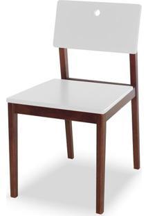 Cadeira Flip Cor Cacau Com Branco - 30825 - Sun House
