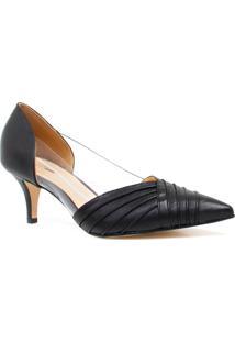 Sapato Zariff Shoes Scarpin Bico Fino Noivas Preto