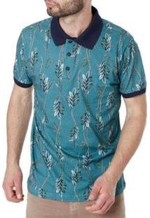 Camisa Polo Drop Life Masculina - Masculino-Verde