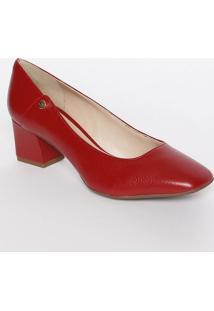 Sapato Tradicional Em Couro Com Recortes- Vermelha- Jorge Bischoff