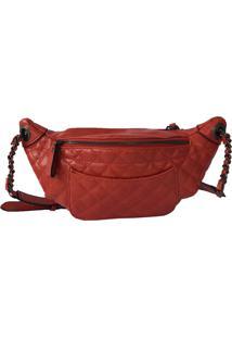 Pochete Bag Dreams Em Matelassê Vermelha